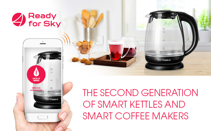 Disco-kettles and coffee makers with the Ready for Sky technology of the second generation