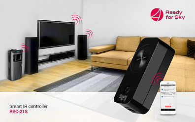 Ready for Sky novelty: the smart IR remote controller, universal for all home devices
